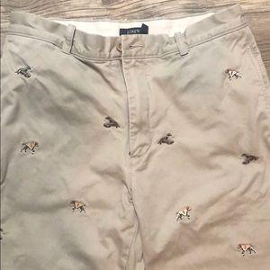 J. Crew Preppy Patch Chino Pants 🐦 🐕